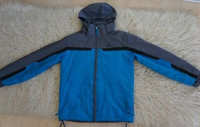 Blue grey black stripes Trespass coat  jacket size 9-10 years 134-140 cm
