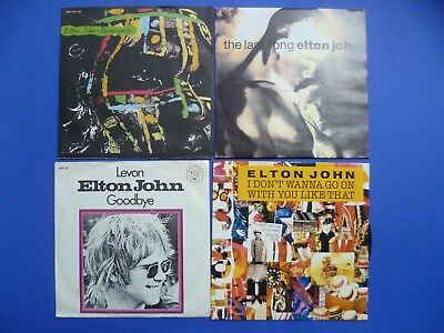"Elton John 7"" Vinyl Les Aveux The Last Song Passengers Levon I Don`t Wanna Go On"