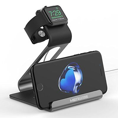 Charging Dock Stand for SmartWatch Series 3/2/1 & iPhone X 8 8 Plus Space Gray