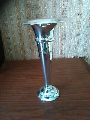 "1935 Silver Plated Trumpet Vase by Elkington - Inscribed ""Criterion"""