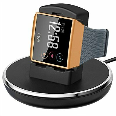 Charging Dock Holder Stand w/ 3 feet Charging Cable f/ Fitbit Ionic Watch Black