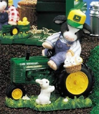 ❤I TRACT-HER DOWN FOR YOU❤   ❤Mary's Moos ❤JOHN DEERE ❤ COW W/BUNNIES