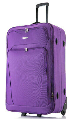 """26"""" Medium Lightweight Expandable Luggage Suitcase Trolley Bag 65 Litres Big"""