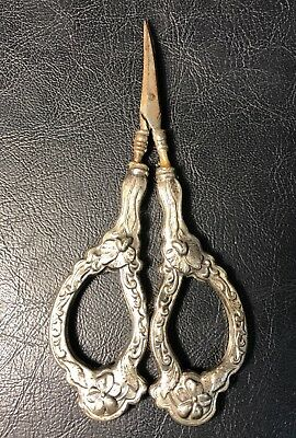 Old Antique Pair of Victorian Sewing Scissors Marked GEB K Germany