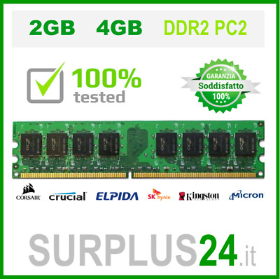 Memorie RAM DDR2 PC DESKTOP PC2 533 667 800 No Ecc Unbuffered Memory