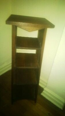 Arts and Crafts Mission Style  Oak Magazine Rack