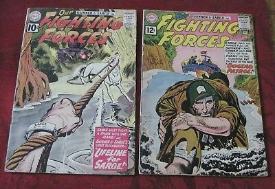 Lot Of 2 Our Fighting Forces #64 & 65 D.c. War Comics High Grade Gunner Sarge!!