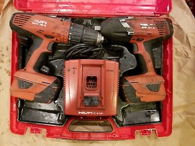 Hilti impact wrench and hammer drill SFH 18-A + SIW 18T-AUSED Combo kit