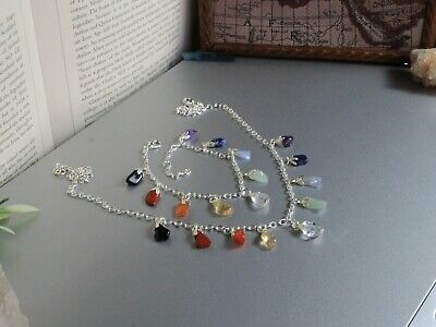 Chakra Necklace, Chakra Bracelet, Protection Necklace, Stress Relief, Crystals