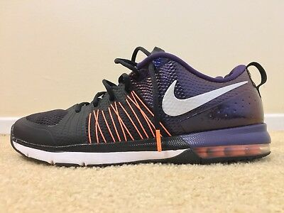 NIKE AIR MAX Effort TR AMP Super Bowl, Black/Orange, 705367-008, Men's Size  13