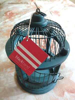 Wood & Wire Bird Cage Antique Design Dome Top Hanging Hook Drop Bottom NEW W TAG