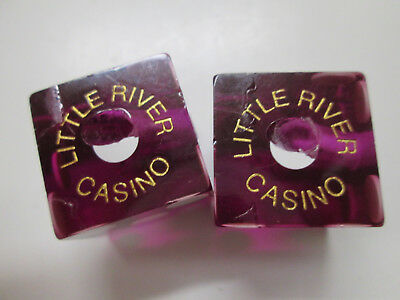 Matched Pair of Purple Dice. # 500. Little River Casino, Manistee, Michigan.