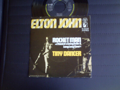 "7"" Single  Elton John  =  Rocket Man  /  Tiny Dancer   -   Germany"