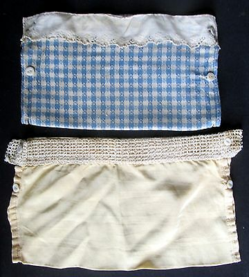Two antique fancy home sewn diaper covers
