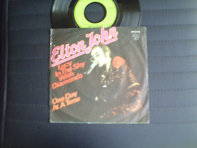 "7"" Single  Elton John  =  Lucy In The Sky With Diamonds  /  One Day At A Time"