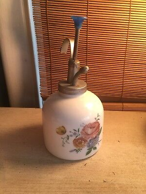 Vintage Plant Mister. Hand painted with Brass Pump. Works Great