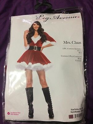 Leg Avenue Mrs. Claus Two Piece Christmas Costume with Hood - Size M/L