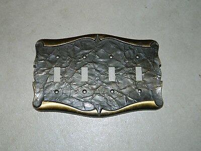 Vintage Amerock carriage house 4 quad toggle light switch cover plate