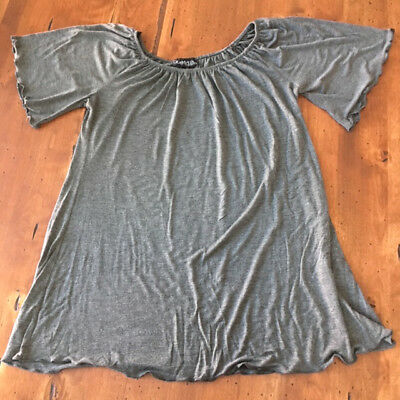 Due Time Maternity XL Gray Top Casual Pull On Rayon Soft