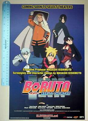 NEW AUTHENTIC Japan Anime Naruto Boruto Movie Sarada Mitsuki Art Paper Poster