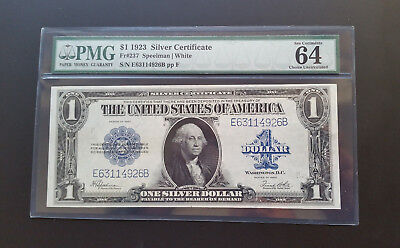 1923 $1 Large Size Silver Certificate  Pmg 64 Choice Uncirculated