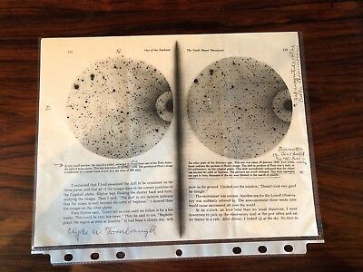 Astronomer Clyde Tombaugh Autographed Page with Notes