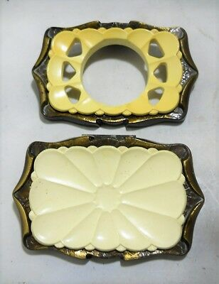 Vintage Amerock Carriage House Wall Mount Soap Dish & Toothbrush Tumbler Holder.
