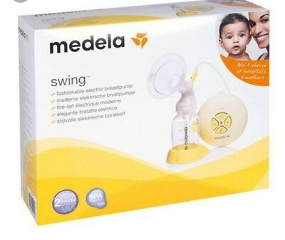 Medela Swing two phase Electric Breast Pump with tommee tippee bottles.