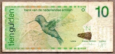 Netherlands Antilles VF Note 10 Gulden 2003 P-28