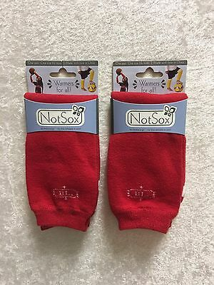 LOT of 2 Pairs BabyLegs Cotton Leg Warmers Sport Stripes Red