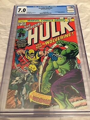 The Incredible Hulk #181 CGC 7.0 with Grader's Notes (Nov 1974, Marvel)