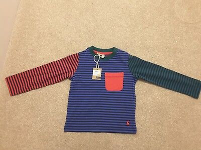 Joules boys long sleeved stripy T shirt. 18-24 months.