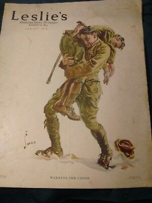 Leslie's Illustrated Weekly Newspaper January 27th 1916