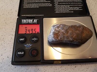 Authentic meteor and meteorites Outer Space Fossil Rock Collectible Fragment #34
