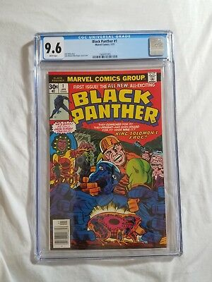 Black Panther #1 Comic (Jan 1977, Marvel) - CGC 9.6 - White Pages - First Print