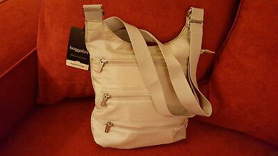 Baggallini Shoulder Silver Bag Purse New Special Edition Highway Bagg Flat