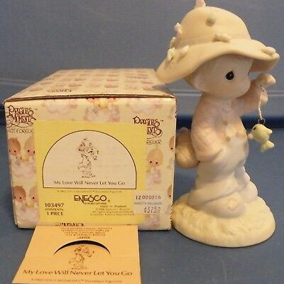 My love will never let you go Precious Moments 103497 figurine 1995 boy fish