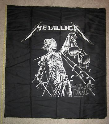 "Vintage 1989 Metallica ...And Justice for All Wall Tapestry/Banner - 40""x40"""