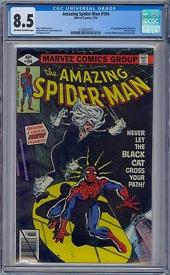 AMAZING SPIDER-MAN #194 - CGC 8.5 - OW/WP VF+  First BLACK CAT FELICIA HARDY
