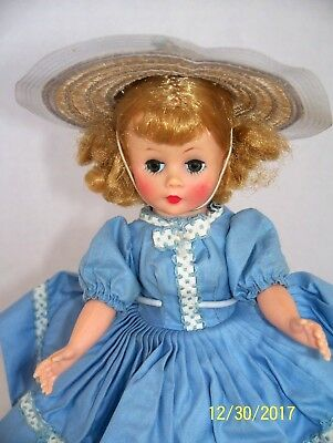 Vintage Madame Alexander Cissette With Tagged Dress Horsehair Hat & More