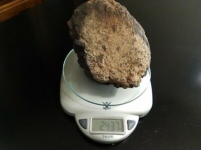 Authentic meteor and meteorites Outer Space Fossil Rock Collectible Fragment #39