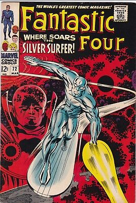 FANTASTIC FOUR #72 NMINT-  1968 Marvel Comics Stan Lee Kirby Silver Surfer Cover