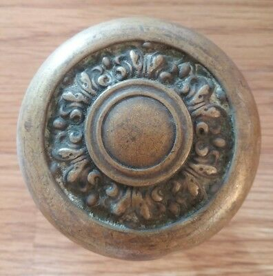 Rare Unique Antique Brass Victorian Door Knob - Nice Design