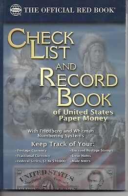 Official Checklist and Record Book of US Paper Money