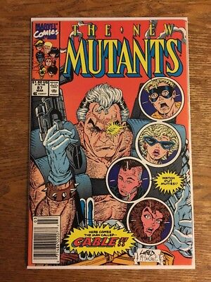 The New Mutants #87 1st Appearance Of Cable Newsstand Edition