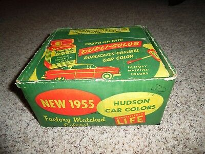 Vintage 1955 Hudson Dupli -Color Touch Up Paint Box Only COOL