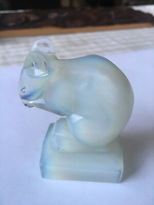 Vintage French Art Deco Opalescent Sabino Glass Mouse Signed