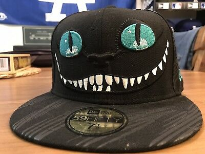 257d9db99a8 RARE NEW ERA Cheshire Cat 59Fifty Disney Hat Alice In Wonderland Hat ...