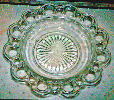 Hocking Clear Glass Old Colony / Open Lace / Lace Edge Cereal Bowl 1935-38