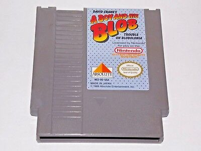 A Boy And His Blob Trouble In Blobolonia Nintendo NES Game - Tested/Works